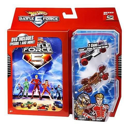 Hot Wheels Battle Force 5 2 Pack Klaus and Vert Wheeler with Bonus DVD of the Series' First Episode