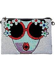 KNUS Evening Wristlet Handbag, Womens Large Designer Leather Oversized Clutch Bag Purse for Ladies