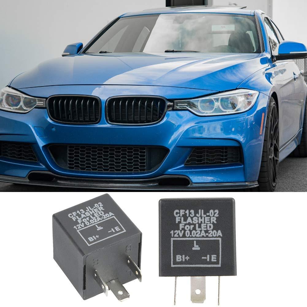 LED Flasher Relay,12V 3 Pin Electronic LED Flasher Relay Fix Turn Signal Blink Flash CF13JL-02 EP-34