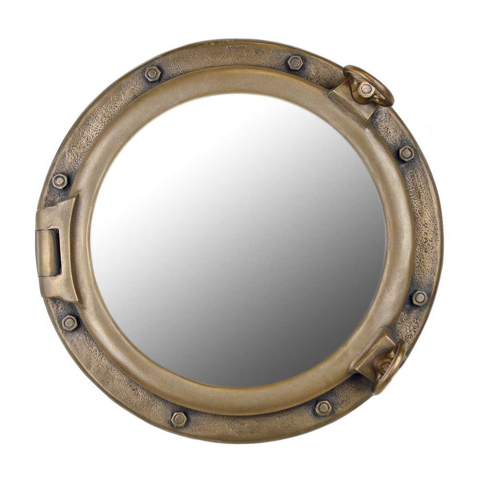 20'' Bronze Finish Wall Mount Porthole Mirror