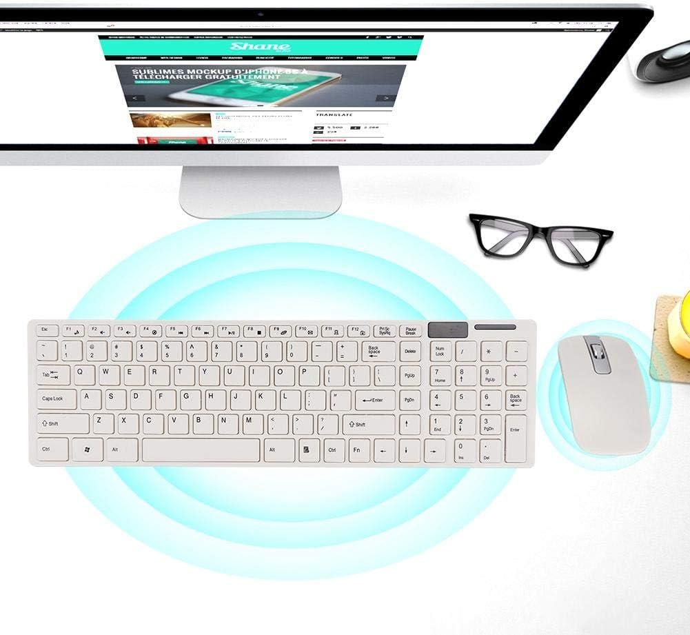 Woyisisi K-06 2.4GHz Wireless Keyboard /& Mouse Set for Desktop PC Laptop Smart TV Ergonomic Wrist Optical Mute Ultra-Thin Household Portable Charging