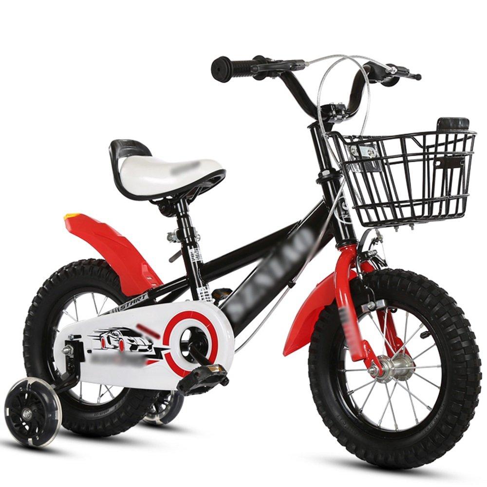HAIZHEN マウンテンバイク キッズバイク、サイズ16インチ、18インチ、20インチブラック、ブルー、イエローマウンテンバイク 新生児 B07C6V8WNZ 16 inch|ブラック ブラック 16 inch
