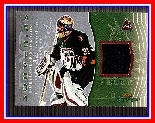 2003-04 Upper Deck MVP Souvenirs #S23 Brian Boucher GAME USED JERSEY PHOENIX COYOTES (Mvp Upper Deck Jersey)
