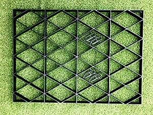 Base de efecto invernadero red 2,25m x 1,25m para 7x 4pies invernaderos y cobertizos bases 7x 4pies = Full Eco Kit + membrana resistente–Placa de plástico ECO PAVING BASES y entrada grillas (11+ 2,5m) SM