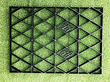 Eco Deck Garden Shed Base Reinforced Gravel Grids with Included Membrane 18x10 Feet Eco Friendly Base Grid