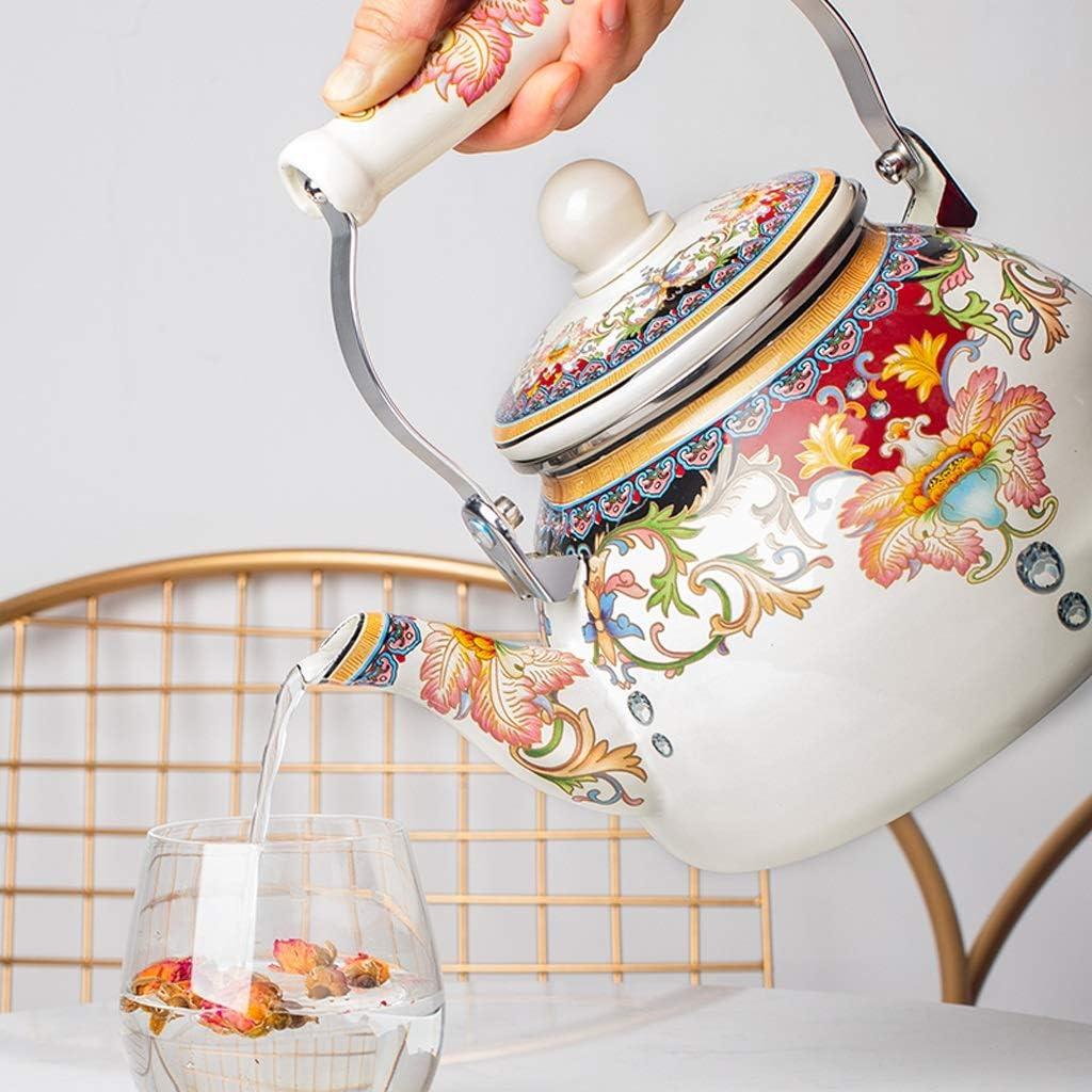 Stovetop Whistling Teakettle Teapot 2.1Quart Retro Classic Design ...