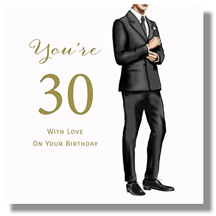 LARGE Happy 30th Birthday Card For A Man