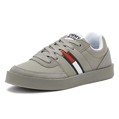 1c74c8149 Tommy Hilfiger Jeans Light Mens Drizzle Grey Trainers  Amazon.co.uk ...
