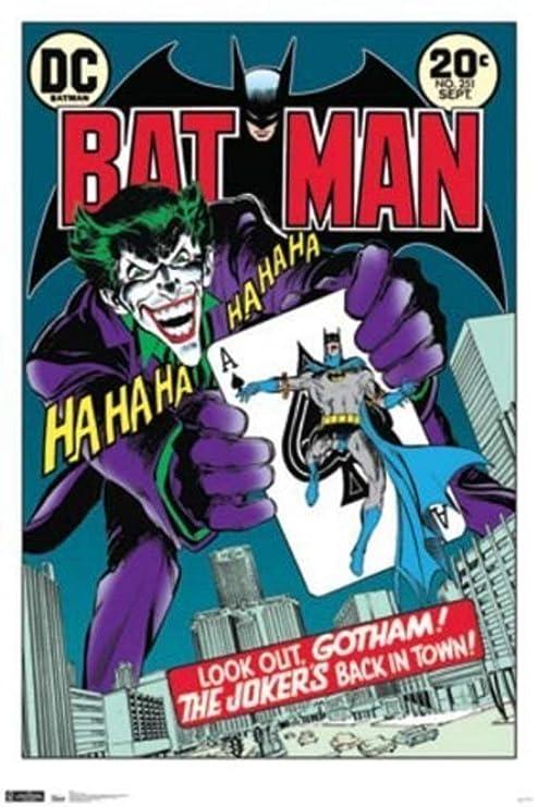 Amazon.com: Batman - Cartel retro de cómic con diseño de ...