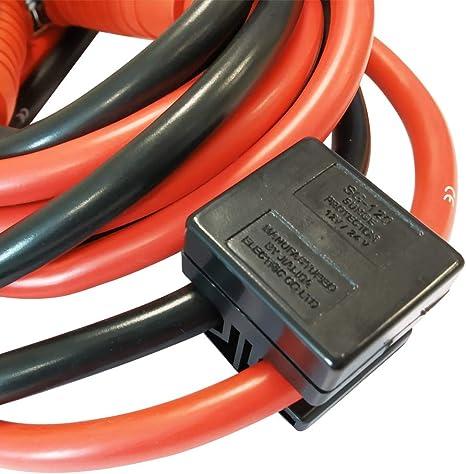 Aufun Starthilfekabel 2x4m Starterkabel Set Überbrückungskabel Kfz Lkw Pkw Batterie Für 12 Volt 24 Volt Mit Überspannungsschutz Auto