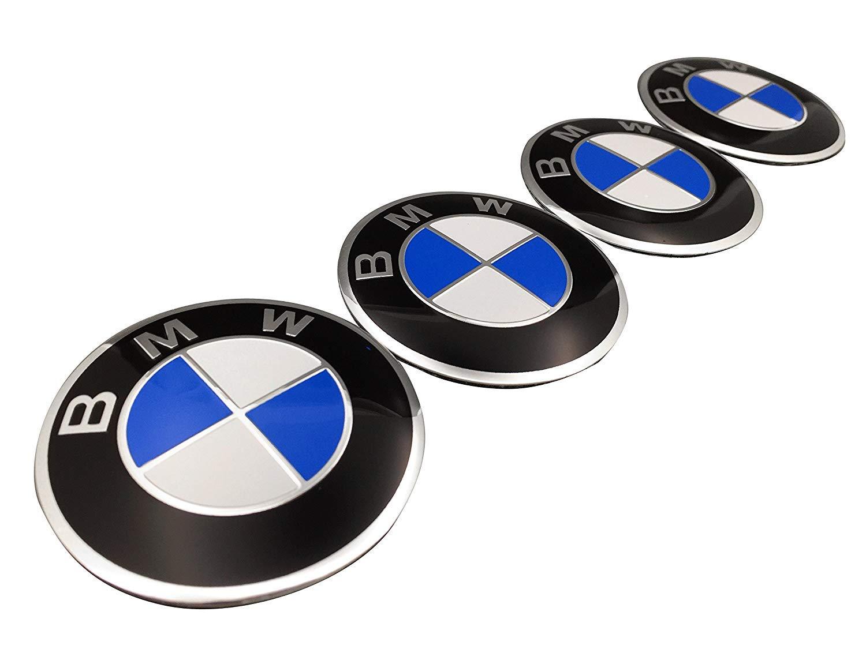 Myhonour Ersatz f/ür Radmittelkappe Emblem Nabendeckel Aufkleber f/ür BMW 4 St/ück