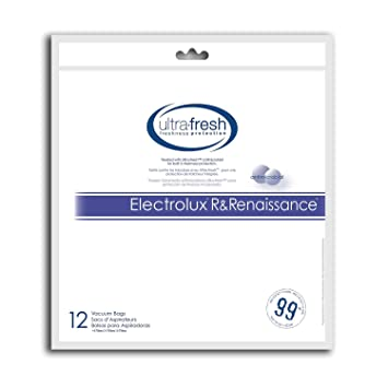Electrolux R and Renaissance Micro Filtration Bag, 12 Bags Treated with Ultra-Fresh