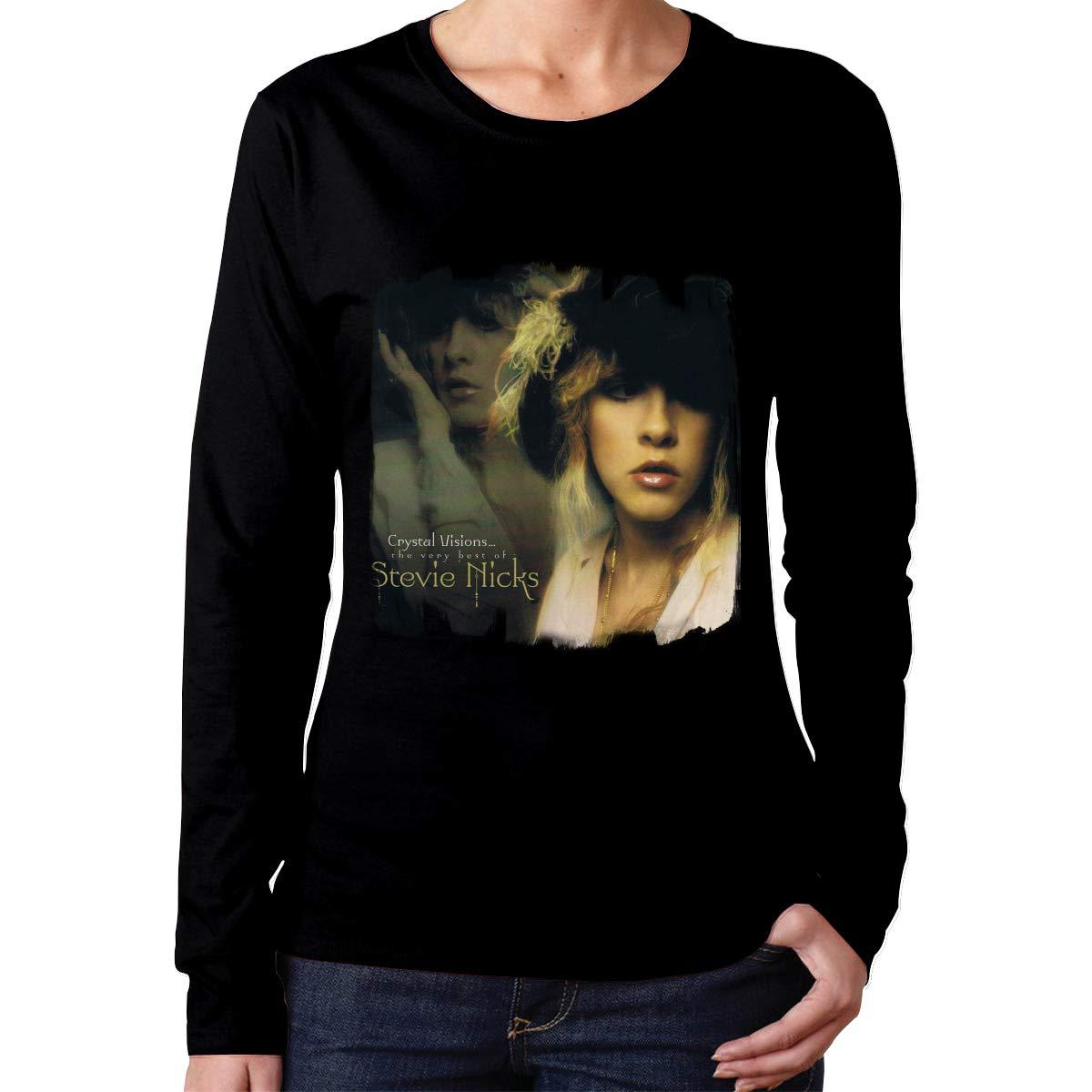 Stevie Nicks Crystal Visions Classic Music Band Fans S T Shirt Black Gif