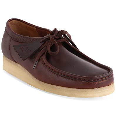 e346d96f464 Clarks Originals Wallabee Mens Leather Shoes Brown Leather - 7 UK:  Amazon.co.uk: Shoes & Bags