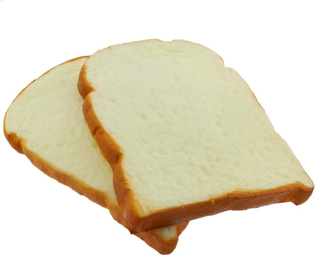 Gresorth 2 PCS Fake Cake Artificial Bread Toast Photography Props Kitchen Toy Decoration