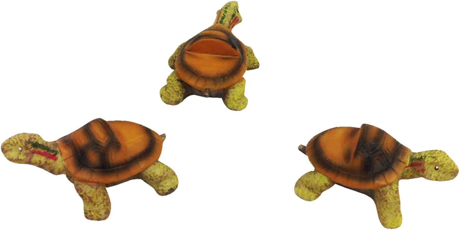Set of 3 Poly Resin Turtle Shaped Pot Feet or Planter Risers Medium Size Turtle Shape Each Measures 3 inches Long, 1.5 inches Tall