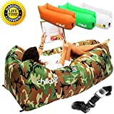 CHILLAX INFLATABLE AIR LOUNGER : Adventure, Explore, Relax Our CHILLAX Premium Bundle contains: High Quality Inflatable Airbed; Nylon Carry Bag: perfect for storage when the bed is not in use and for easy transport while traveling; Aluminum Stake &am...