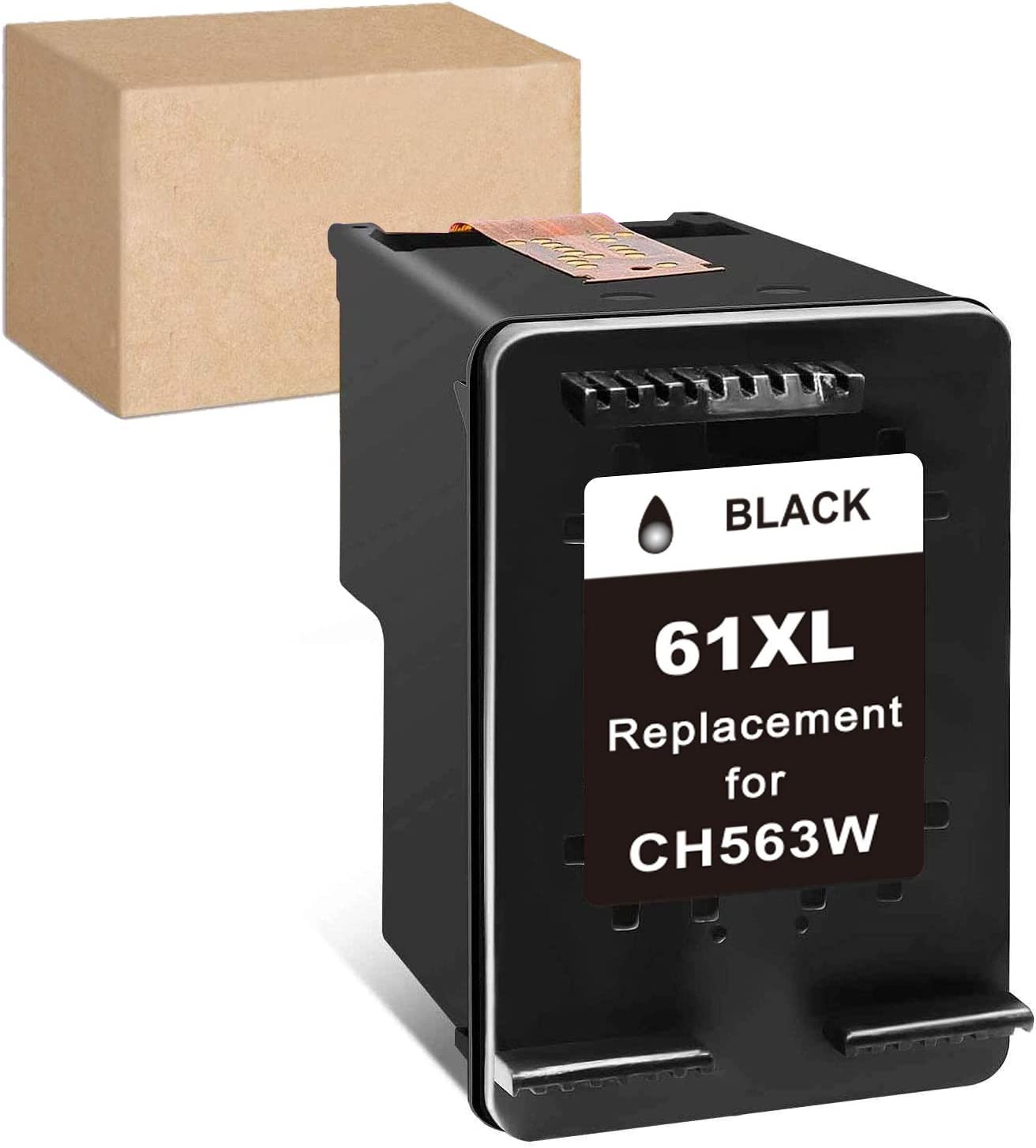 InkSpirit Remanufactured Ink Cartridge 61 Replacement for HP 61XL 61 XL Black Used in Envy 4500 4502 5530 OfficeJet 4630 DeskJet 2512 1512 2542 2540 2544 3000 3052a 1055 3051a 2548 Printer (1-Pack)