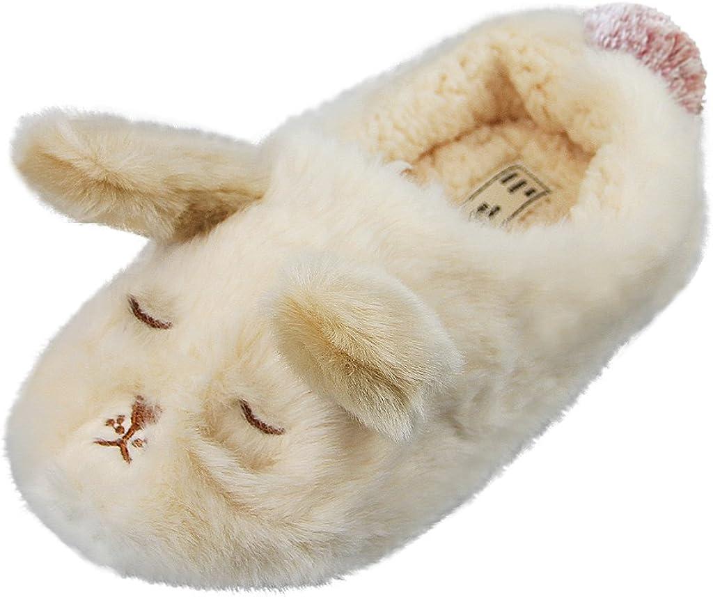 Unisex Winter Warm Antiskid Slippers Cute Animal Soft Plush Indoor Home Shoes HC