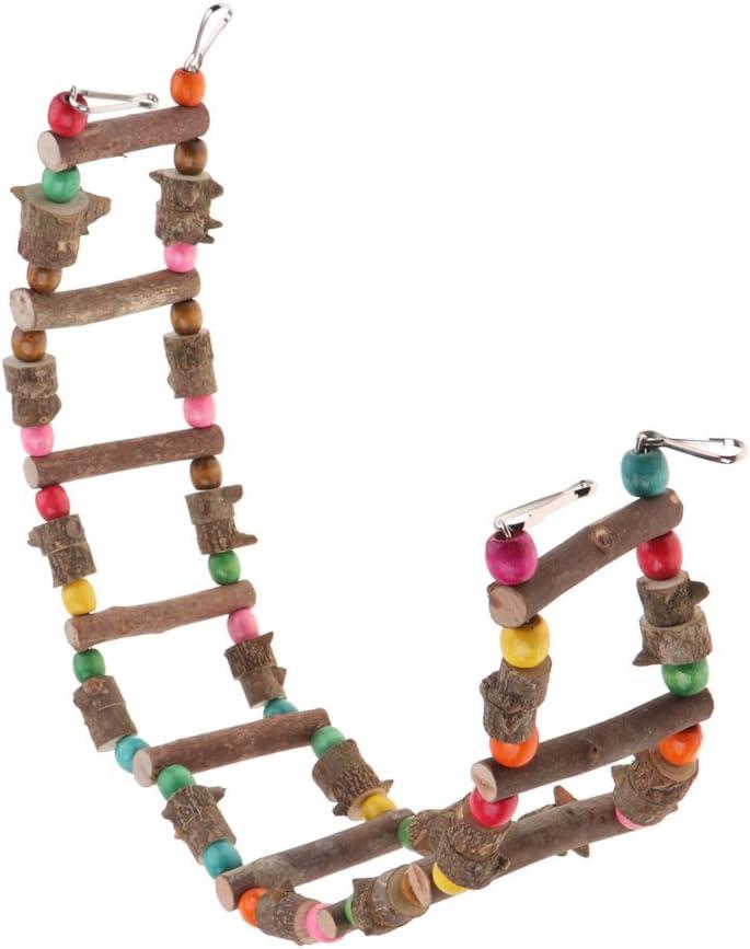 FLAMEER Juguete De Aves para Columpios De Chinchillas De Hámster Loro, Escaleras De Colores para El Ejercicio De Mascotas - 80cm