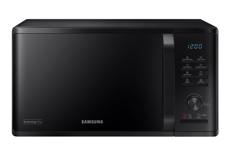 Samsung MG23K3515AS Microonde con Grill, 23 l, 800 W, Argento [Classe di efficienza energetica A]