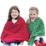 Irish Child's Wool Poncho (Kiwi Green)
