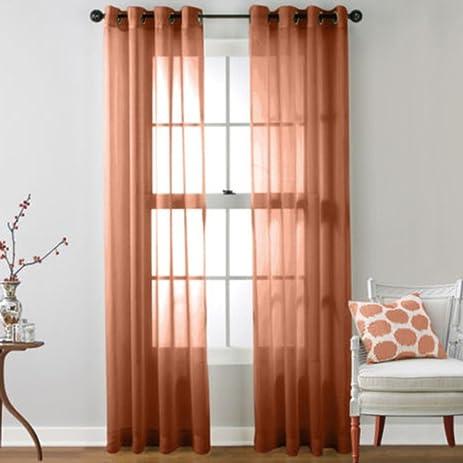 Amazon.com : Peyan Romantic Tulle Voile Door Window Curtain Drape ...