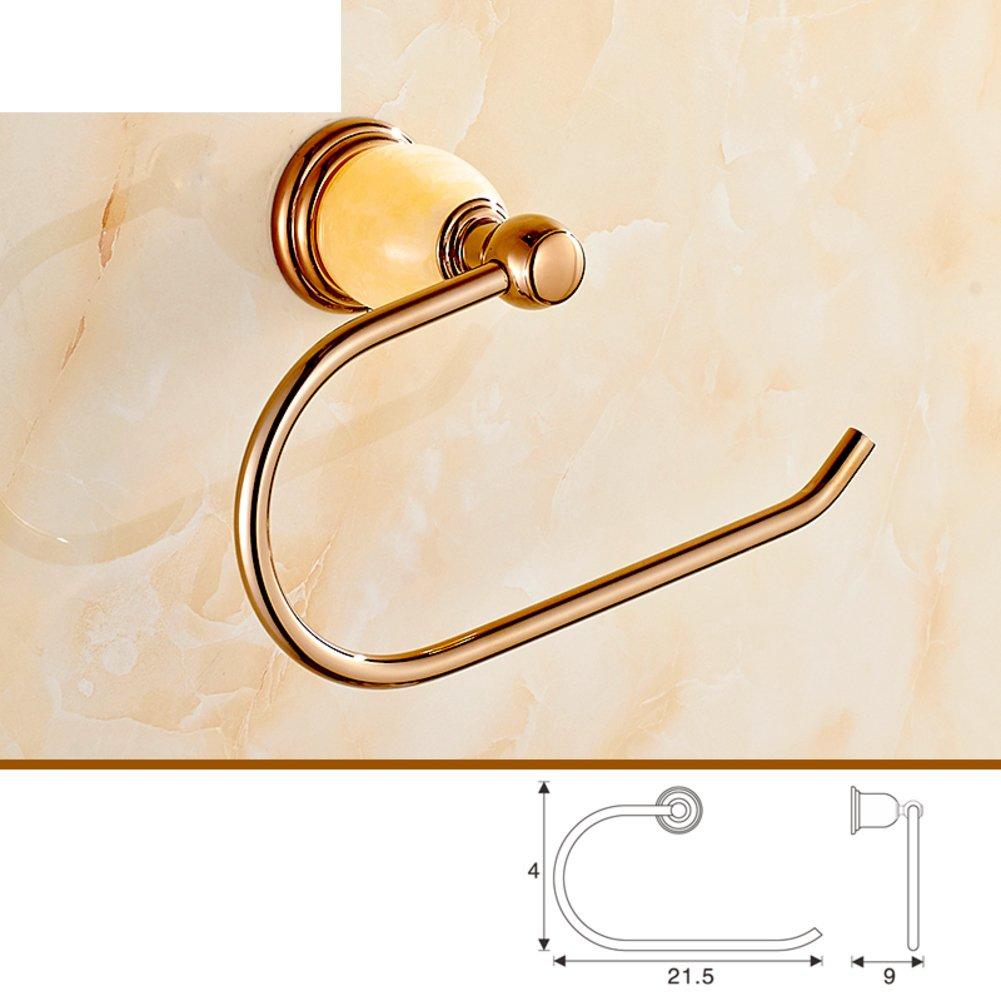 ヨーロピアンスタイルrose-goldタオルラック/タオルラック/ Jadeセットバスルームアクセサリー/真鍮バスルームガラスshelf-wideとタオルラックkit-e B06X948MFP