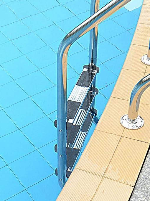 SHOH - Escalera de Piscina para Piscinas en el Suelo, Pedal de Acero Inoxidable 304, Escalera de Repuesto, Accesorios Antideslizantes, Plateado, Non-Slip Pedal: Amazon.es: Hogar