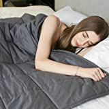 Weighted Blanket by Weighted Idea for Adults - Great for Anxiety, Autism, and Sensory Processing Disorder - Dark Grey (48''x78'', 12 lbs)