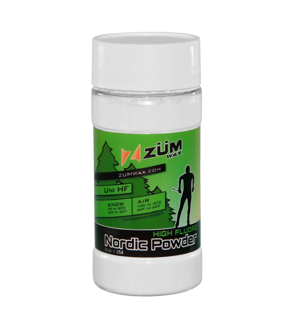 ZUMWax NORDIC/CROSS-COUNTRY HIGH FLUORO RACING Powder - BEST FLUORO in the PUREST form & quality!!! by ZUMWax
