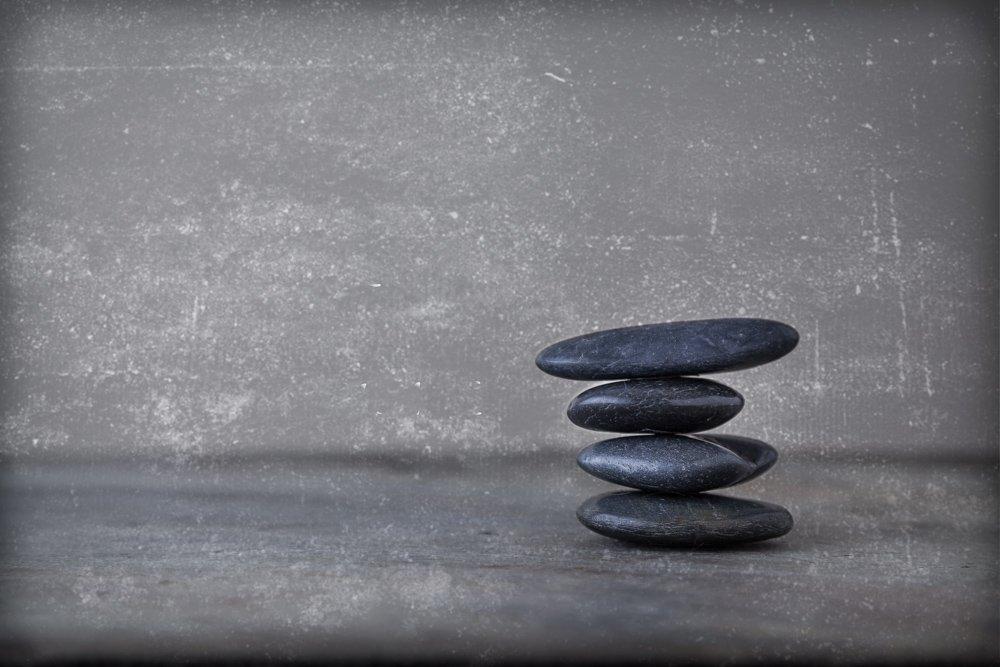 Four Balancing River Rocks - Zen Fine Art - Nature and Balance - Peaceful Home Decor - Spa and Resort Photography - Interior Design