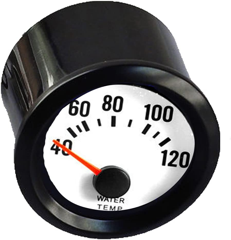 HOUTBY Car Vehicle Black Shell 2 52mm Pointer Tacho Tachometer Gauge Meter Blue LED Light