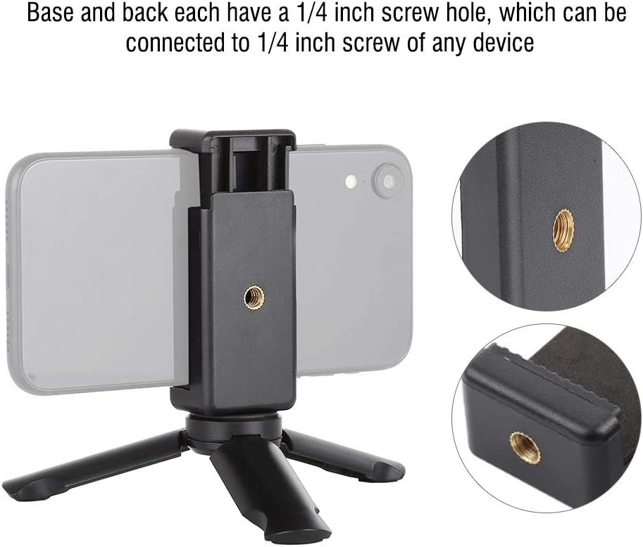 Wandisy Mini Smartphone Clamp Clip Folding Phone Stable Holder Stand Mount Tripod