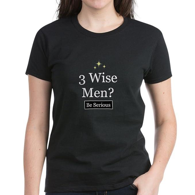 e5a847d7 Amazon.com: CafePress - Three Wise Men - Womens Cotton T-Shirt Black ...