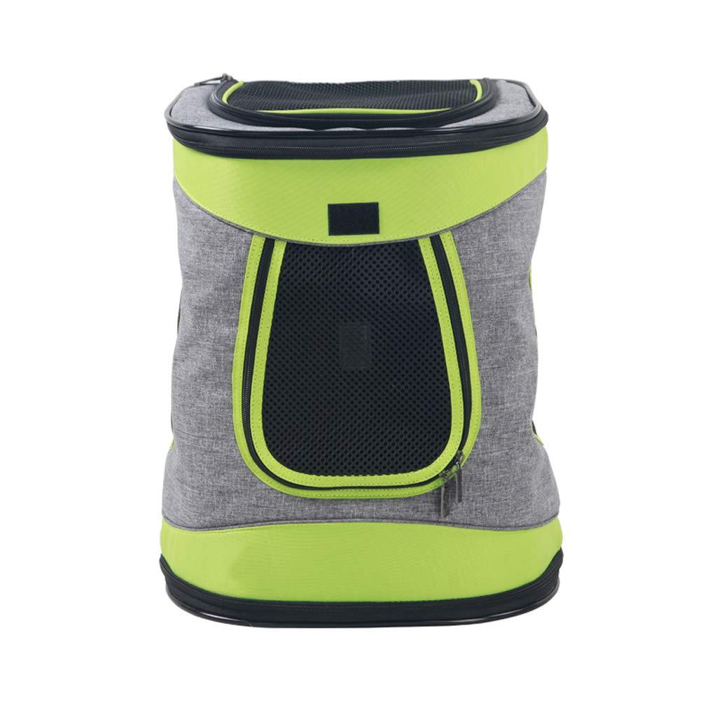 A Pet Backpack Out Shoulder Bag Dog Backpack cat Backpack Out Carrying Bag cat Bag Travel Bag Green