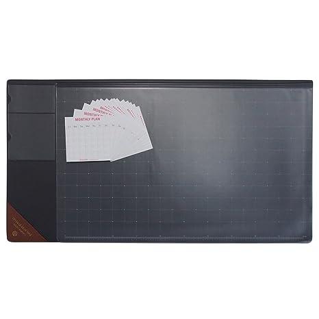 amazon com vintage desk pad with pocket size 14 ahzoa monthly plan rh amazon com School Desk Transparent durable duraglas transparent desk pad