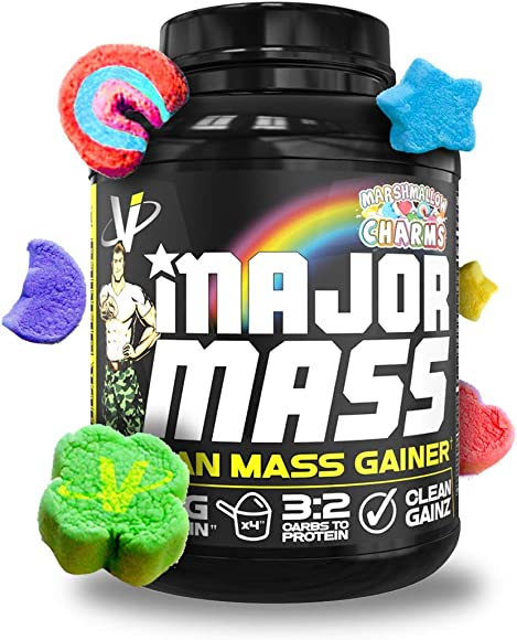 VMI Sports, Major Mass Lean Mass Gainer, Marshmallow Charms, 60 Scoops 4 lbs. , Protein Powder with Protein to Carbohydrates to Fats Ratio for Lean Muscle Mass Weight Gaining, Pre- or Post-Workout