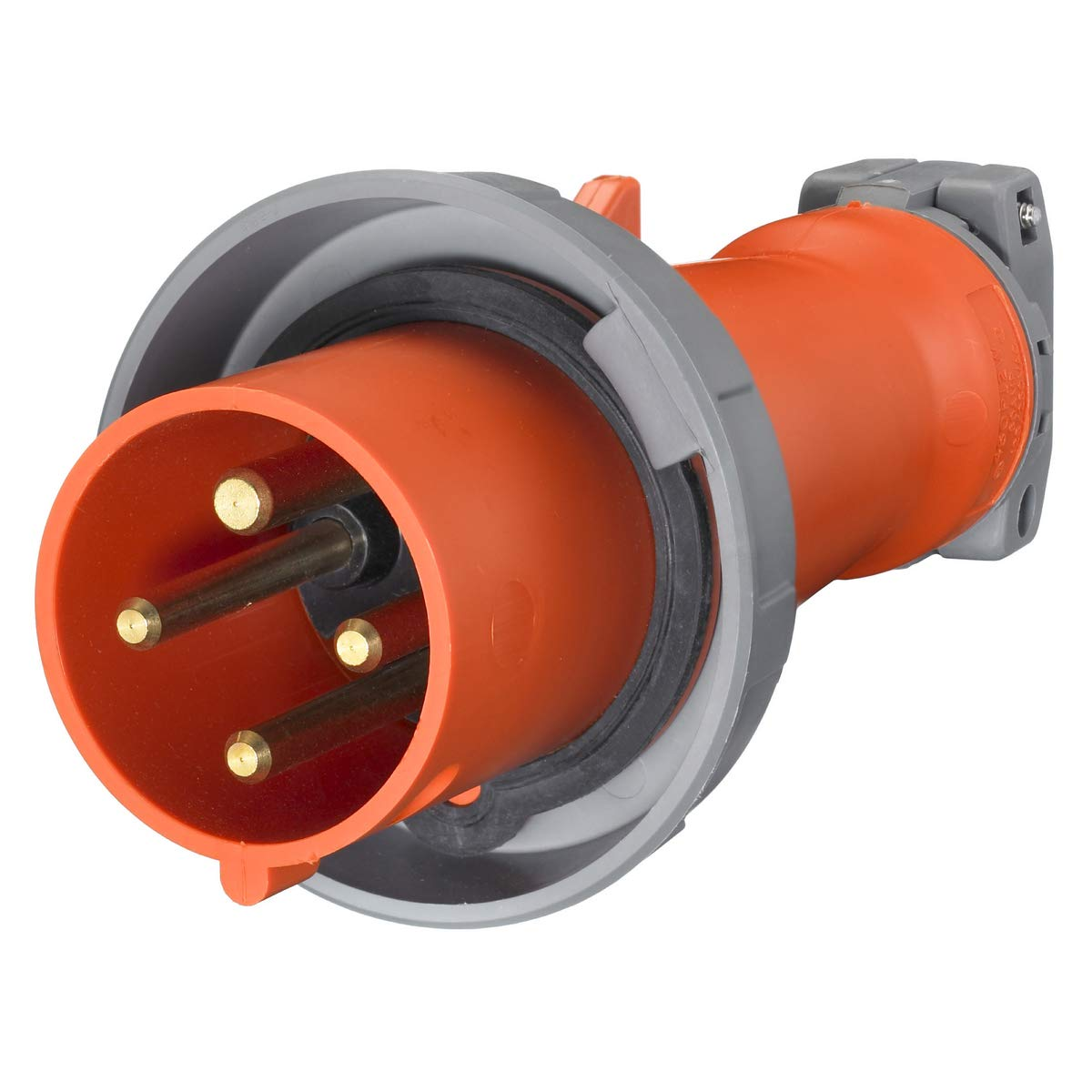 Hubbell HBL460P12W Pin and Sleeve IEC Plug, 3 Pole, 4 Wire ... on atex plug wiring, terminal block wiring, dot plug wiring, nema plug wiring, semi plug wiring, icc plug wiring, samsung plug wiring, usa plug wiring,