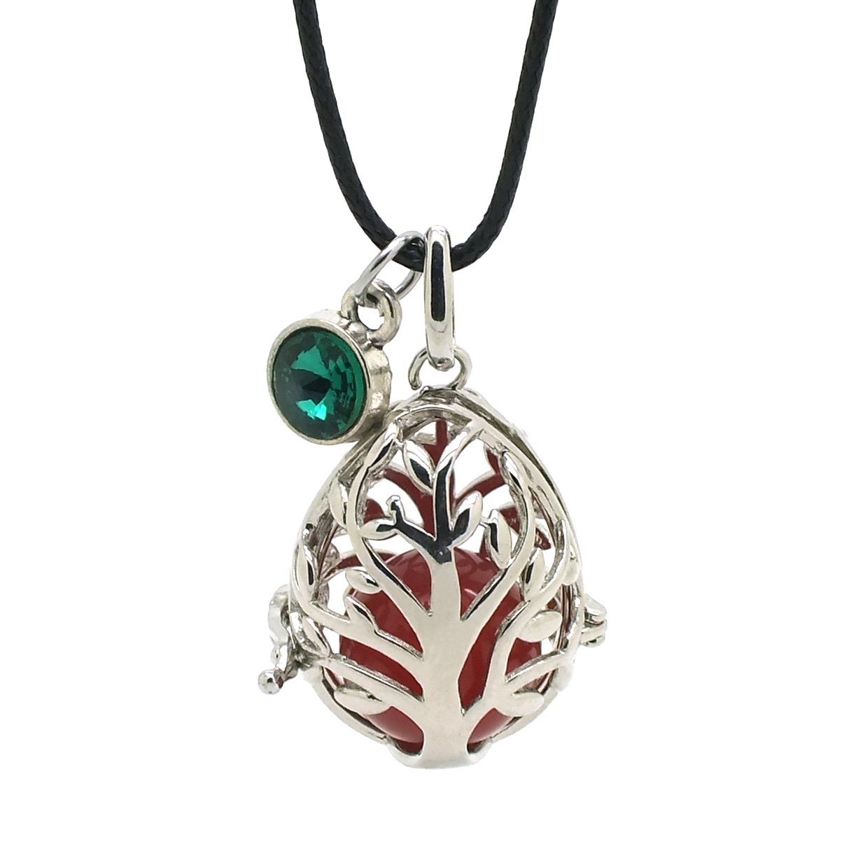 Efantina Tree Of Life Pendant Necklace Jewelry with Natural Green Aventurine Gemstone YiFan Jewelry