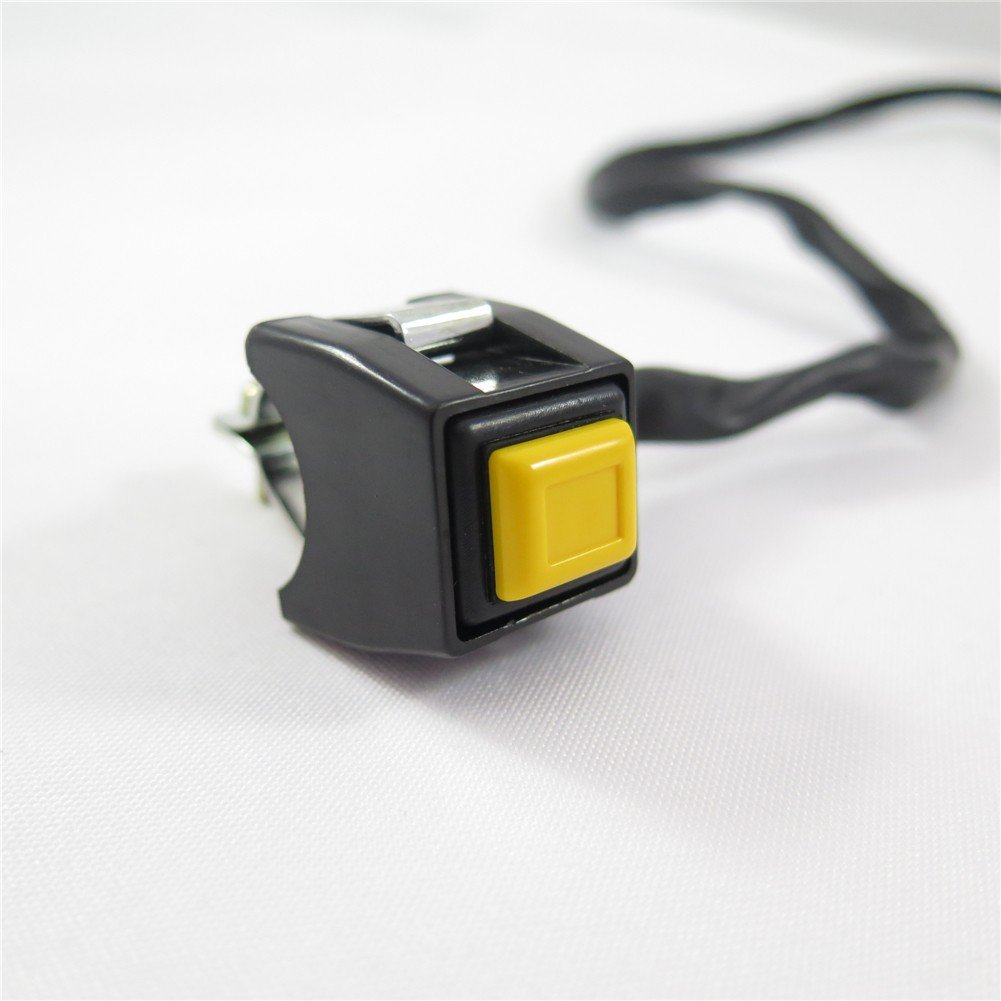HTT Universal Yellow 7//8 Handlebar Starter Kill Cut Off Stop Switch Push Button For Motorcycles ATVs Scooters Snowmobiles