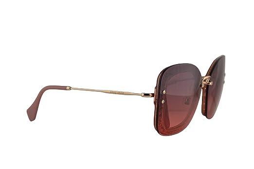 2a22cee9dc47 Amazon.com: Miu Miu MU02TS Sunglasses Transparent Pink Glitter w/Pink  Gradient Violet 65mm Lens IYKPZ0 MU 02TS SMU 02TS SMU02T: Clothing