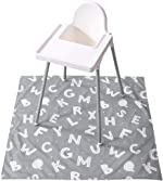 Baby Splat Mat for Under High Chair, Winthome Washable Large Floor