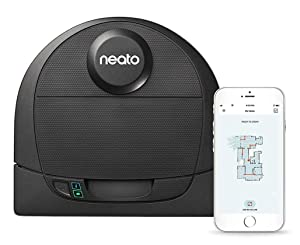Neato Robotics D4 Connected Laser Guided Robot Vacuum Featuring No-Go Lines, Works with Amazon Alexa Black
