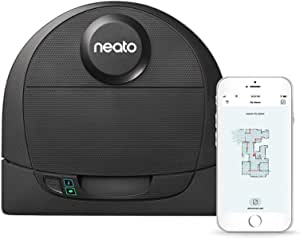 Neato Robotics D4 Laser Guided Smart Robot Vacuum - Wi-Fi Connected, Ideal for Carpets, Hard Floors and Pet Hair, Works with Alexa