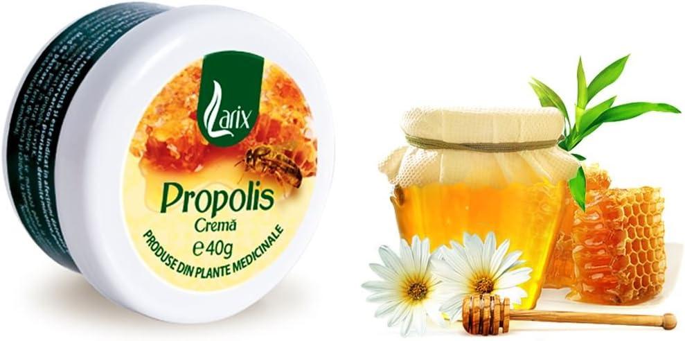 Larix, Crema de Propóleos, Rica en Antioxidantes y Regenera la Piel, Seborrea   Psoriasis   Eccema   Acné   Dermatitis Seborreica   Piel Grasa, 40gr