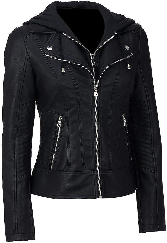 Womens Custom Made Faux Leather Jacket MSR Leather Short Body Custom Made Faux Leather Jacket for Women
