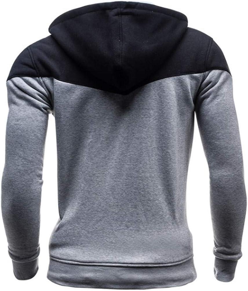Mens Hoodie,Vickyleb Mens Casual Slim Fit Hoodie Long Sleeve Comfortable Lightweight Pullover Hooded Sweatshirts