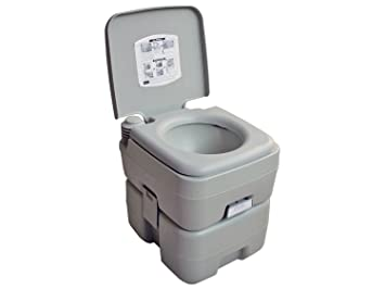 5 Gallon 20L Camping Portable Toilet Potty For Outdoor Caravan, Rv Five  Oceans