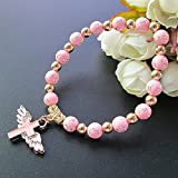 12 Pcs Angel Wing Cross Bracelet Favor for Girl - Baptism Favor / Christening Favor / Bautizo Recuerdos